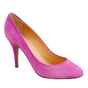 J. Crew Pink Mona Suede pump